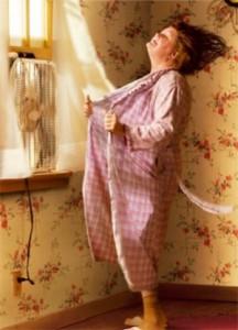 Du an ofta känna dig varm och svettas under klimakteriet